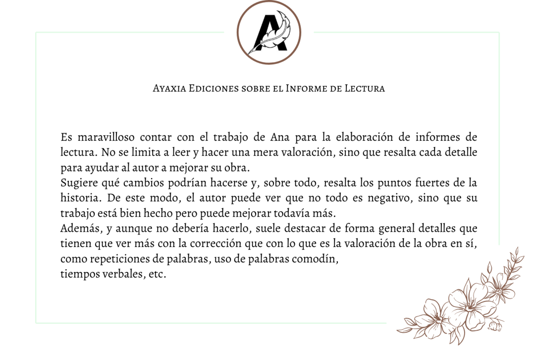 Ayaxia Testimonio Informe de Lectura