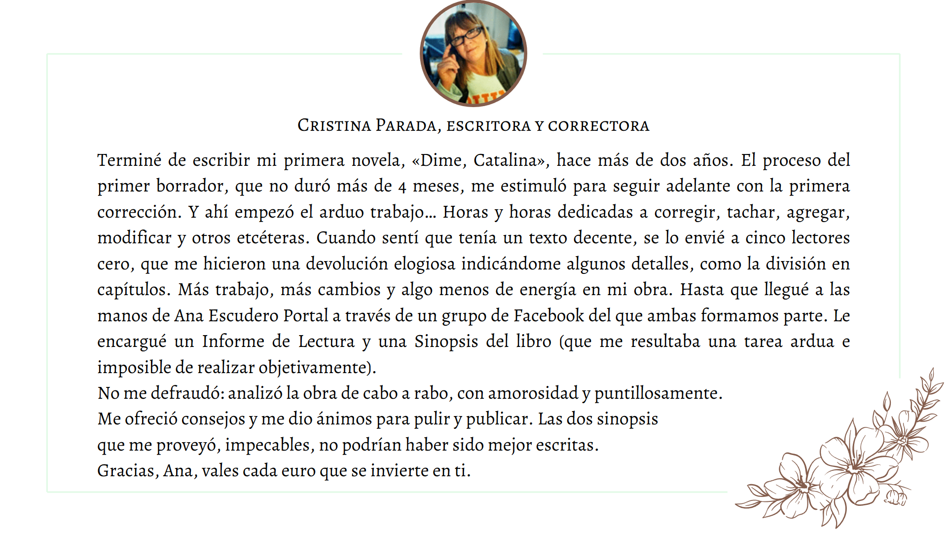 Testimonio Cristina Parada