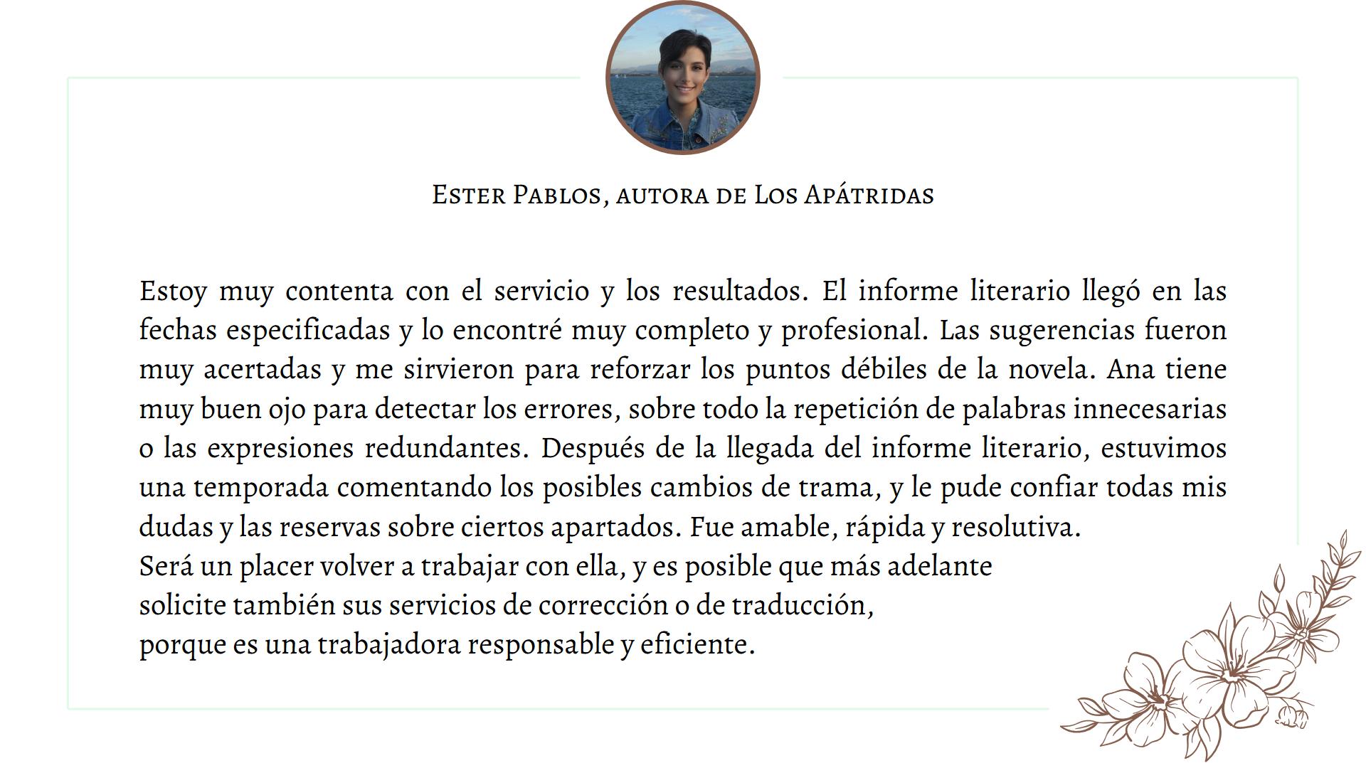 Testimonio Ester Pablos