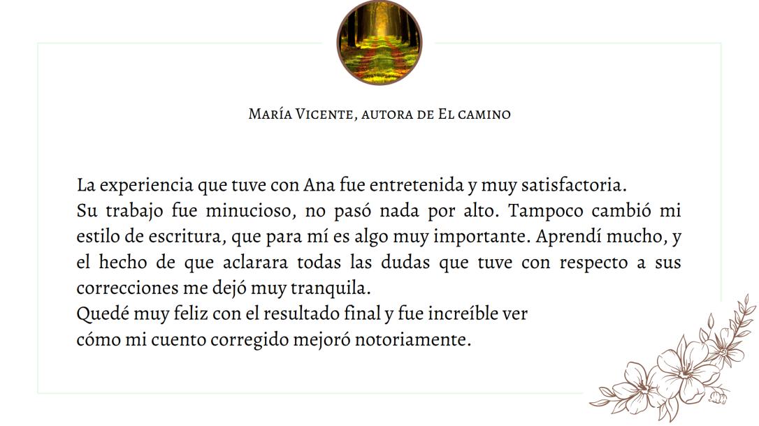 Testimonio María Vicente