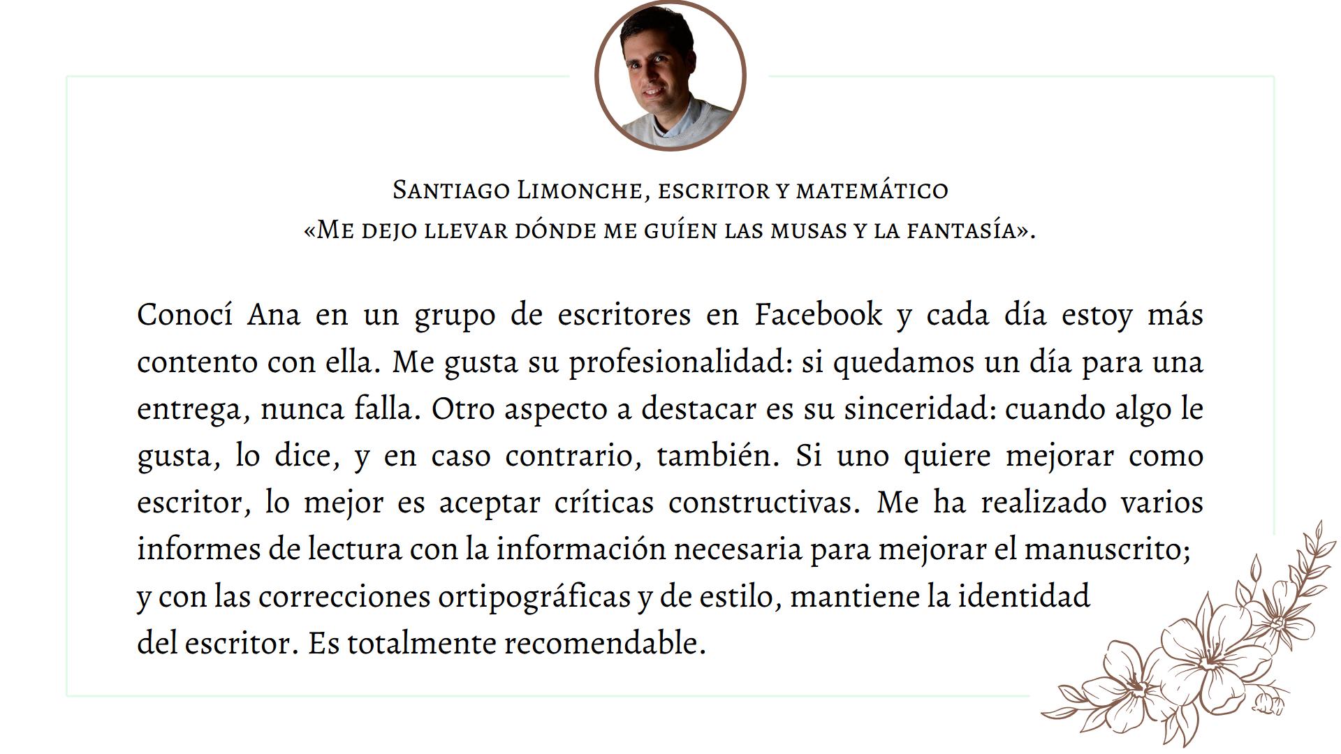 Testimonio Santiago Limonche